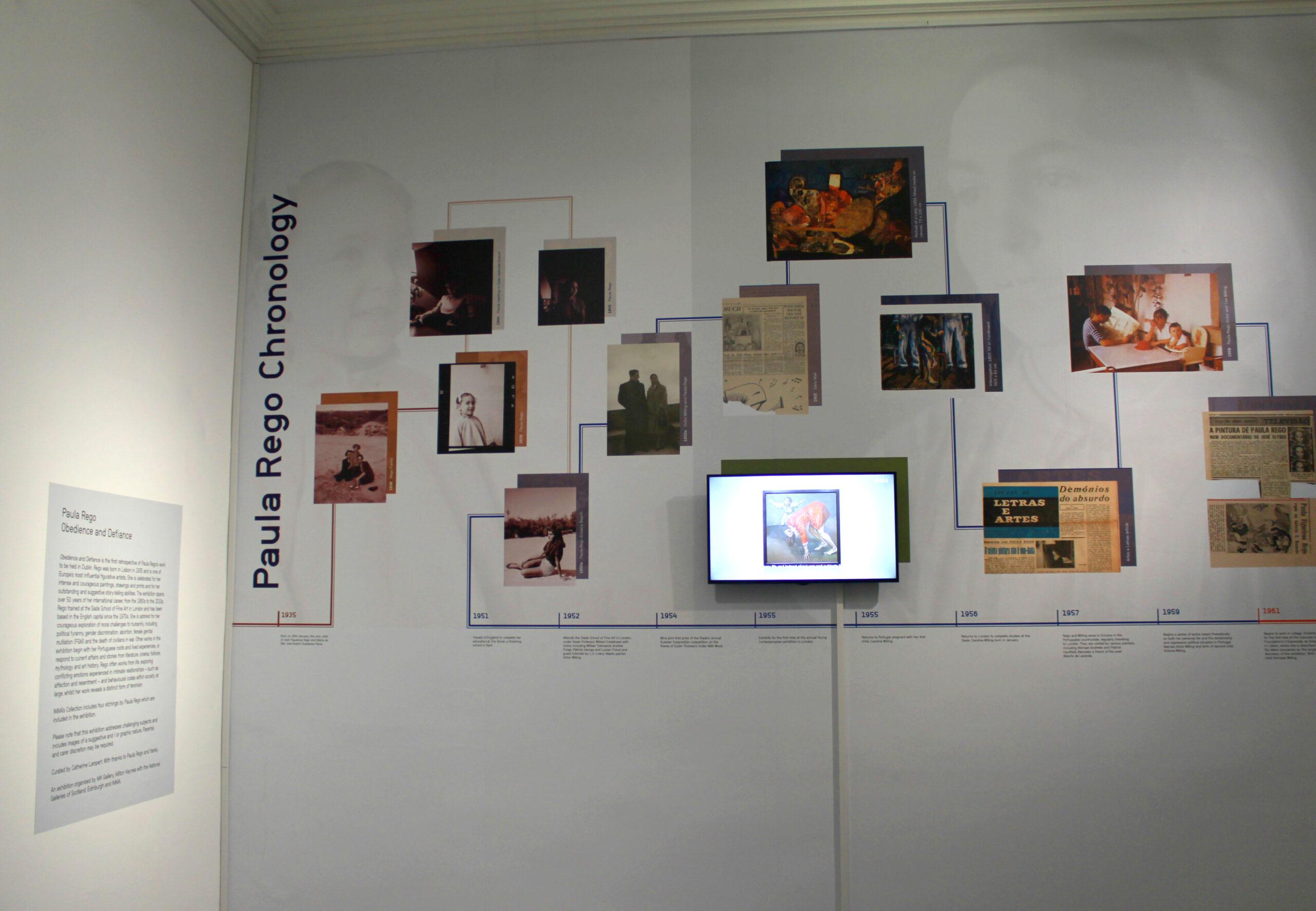 IMMA Paula Rego Timeline Design